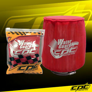 Water Guard Cold Air Intake Pre-Filter Cone Filter Cover for Honda Medium Red