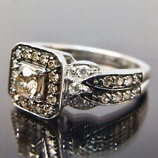 Le Vian 14k White Gold Diamond Halo Engagement Ring