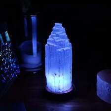 More details for selenite crystal lamp selenite mountain tower colour changing usb lamp gift uk