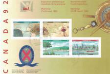 Canada 1992 World Youth Philatelic Exhibition Souvenir Sheet Used