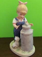 1985 Home Interiors Denim Days Morning Chores Debbie Homco Figurine Gift