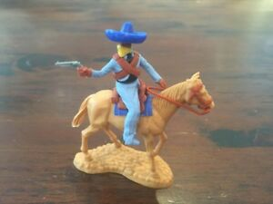 Timpo Masked Mexican Bandit - Royal Blue Sombrero - Wild West - 1970's