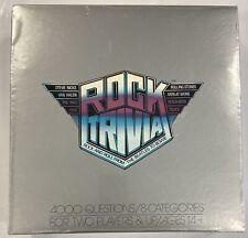 Vintage Rock Trivia Board Game Pressman Complete Game Rolling Stones 1984 New!