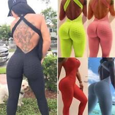 Para Mujeres Pantalones Leggings Deporte Yoga Mono Enterito Anti Celulitis Fitness Gym o