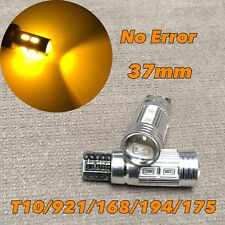 PARKING LIGHT T10 LED AMBER No Canbus Error w5w 168 194 10 SMD for Toyota L