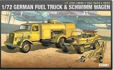 Academy 13401 1/72 GERMAN FUEL TRUCK & SCHWIMM WAGEN Vehicle Series-3 NEW