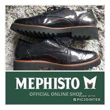 Mephisto Sabatina Patent Leather Shoes 8.5 Dark Gray