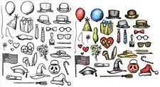 Tim Holtz Crazy Things Cling Rubber Stamps and Thinlits Dies Bundle