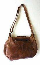 MEDIUM LEATHER DAY BAG IN CARAMEL