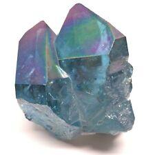 RARE Stunning Aqua Aura Rainbow Rainbow Quartz Crystal 58g/2.060oz  BE-0034
