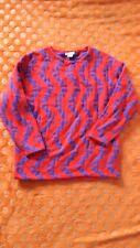 Purple Red Orange 80's vintage retro cosy jumper sweater patterned