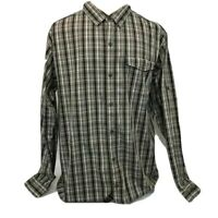Columbia Omni-Wick Shirt Men XL Vented Button Down Long Sleeve Plaid