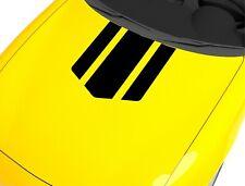 Aufkleber für Motorhaube Rennstreifen Schwarz 65x55 cm Sport Tuning Sticker 254