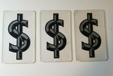 New Listing Dollar Sign 6 Black Clear Hard Plastic Marquee Letter Theatre School Business