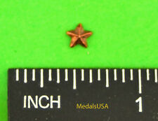 "Lot of 6 Bronze Star campaign/battle 3/16"" Ribbon Bar Attachment Devices"