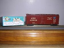 "KAR-LINE #10  Ann Arbor w/Blue Fl ""B.C.Red"" 40' AAR Sliding Door Box Car #1391"