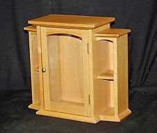 Wooden Wall Counter Top CURIO CABINET CASE Shadow Box Glass Miniature Display