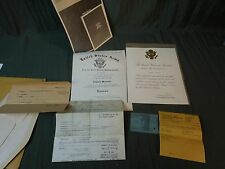 WORLD WAR II ENLIST AND DISCHARGE PAPERS ARMY AIR FORCES DIPLOMA,CARTER HONOR