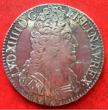1710 French Royal Coin Silver,  Louis XIV, Ecu with 3 crowns