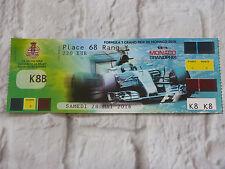 Ticket full place entiere gp mc MONACO Grand Prix F1 2016 Formule 1 formula one