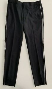 NWT BAND OF OUTSIDERS Men's Black White Side Piping Tuxedo Style Pants Size 32