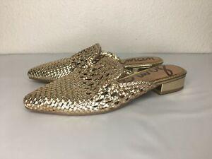 2*20 Sam Edelman Gold Clara Mule Women's Sandal Size 6.5