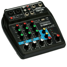 Professional 4 Channel Mixing Studio Audio Sound Mixer Console BT With USB