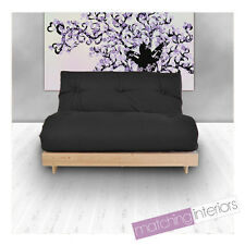 Black Budget Double Futon Cotton Mattress 2 Seater Sofabed Sofa Guest Student