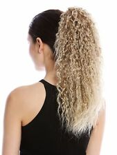 Hairpiece Plait Voluminous Curly Crepe Curl Creped Blond Fawn Strands 45c