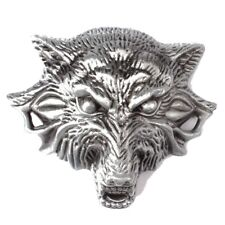 Belt Buckle Wolf Animal Head Badge Western Cowboy Native American Indian Country