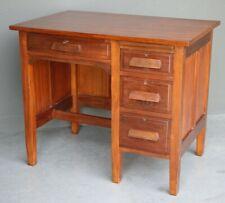 Antique Federation era solid blackwood pesdestal desk drawers working locks 1905