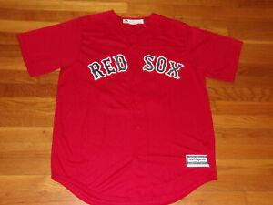 NEW MAJESTIC BOSTON RED SOX BENINTENDI BUTTON-FRONT BASEBALL JERSEY MENS LARGE