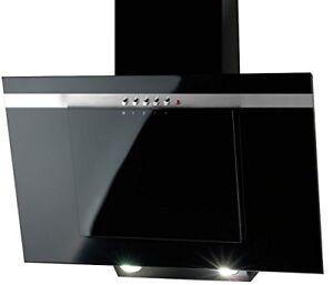 AKPO Nero Line schwarz 60cm Kamin Dunstabzugshaube Küche Abluftventilator