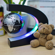 US C-shape Decoration Magnetic Levitation Floating Globe World Map Display Xmas