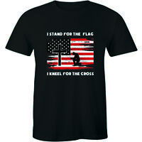 I Stand For The Flag I Kneel For The Cross Patriotic Christian T-Shirt