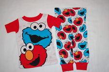 5b113bd26b Baby Boys COOKIE MONSTER   ELMO Knit S S Pajamas Set SESAME STREET Size 9
