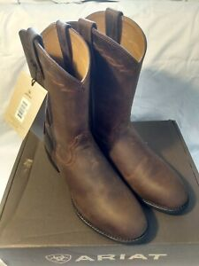 Ariat Mens Heritage Roper Western Cowboy Boots - Distressed Brown - Size 9 D MED