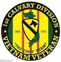 ARMY VIETNAM VETERAN 1ST CAVALRY DIVISION CAR STICKER DECAL