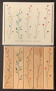 Hero Arts Fanciful Filaments Rubber Stamp Set Star Heart Dot Flower Leaf