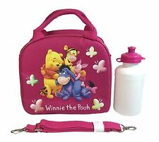 Disney Winnie The Pooh Shoulder Strap Dark Pink Insulated Lunch Box School Bag