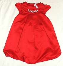 NEW GYMBOREE Party Plaid Holiday Christmas Red Satin Rhinestone Dress 18 24 m