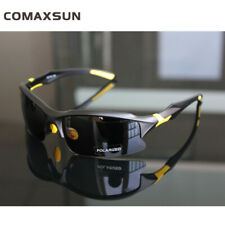 Professional Polarized Cycling Glasses Casual Sports Outdoor Sunglasses 6 Color Matte Black and Yellow