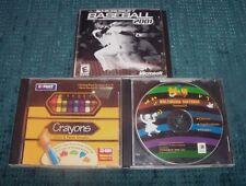 Kid's Games - Crayons Color - Multimedia Software - Baseball  - Windows