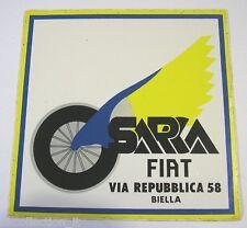 VECCHIO ADESIVO AUTO / Old Car Sticker CONCESSIONARIA FIAT BIELLA (cm 12 x 12)