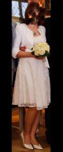 Umstandshochzeitskleid + Bolero / Hochzeitskleid / Standesamt / Kirche / Feier