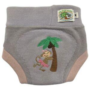 Wild Child Woolies Cloth Diaper Cover 100% Wool Monkey Purple Size Medium 18 mos