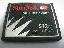 ,, 512MB Compact Flash Card Industrial ( 512MB CF Karte ) SanDisk gebraucht ,,