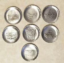 Wendell August Forge Handmade - Longaberger Jw Basket Pewter coasters - set of 7