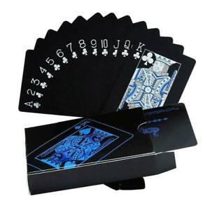 Black / Blue Poker Cards - PVC plastic waterproof bend resisant