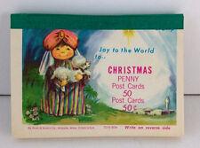 Set 34 vtg Shepherd & Lamb Joy to the World Christmas postcards Pratt & Austin